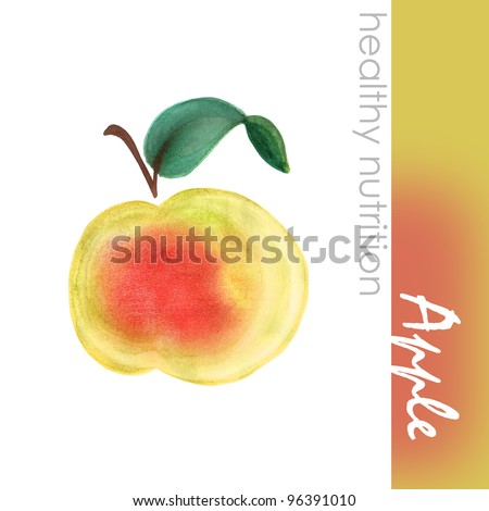 Hand Painted Apple