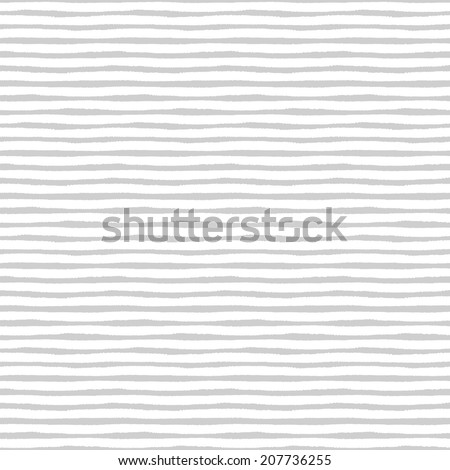 Hand painted brush strokes seamless pattern, striped background - stock photo