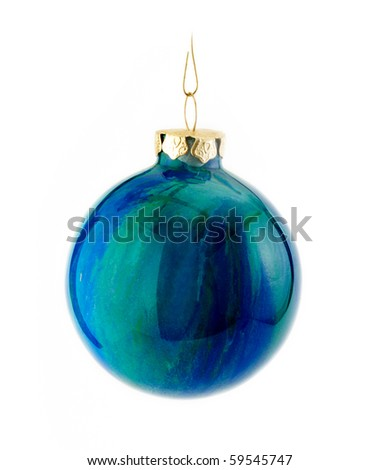 Hand painted Christmas ornaments - stock photo