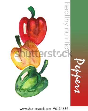 Hand Painted Peppers