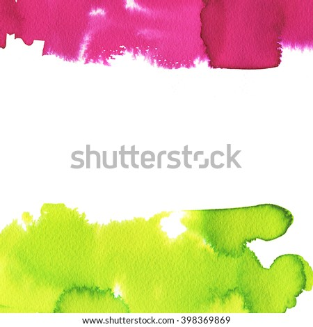Hand painted watercolor background. Abstract painting. Bright colors.