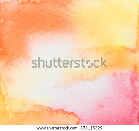 Hand painted watercolor background. Watercolor wash. Abstract painting Photo of Hand painted watercolor background. Texture of soft colored abstract watercolor background. - stock photo