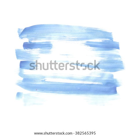 Hand painted watercolor background. Watercolor wash.blue - stock photo