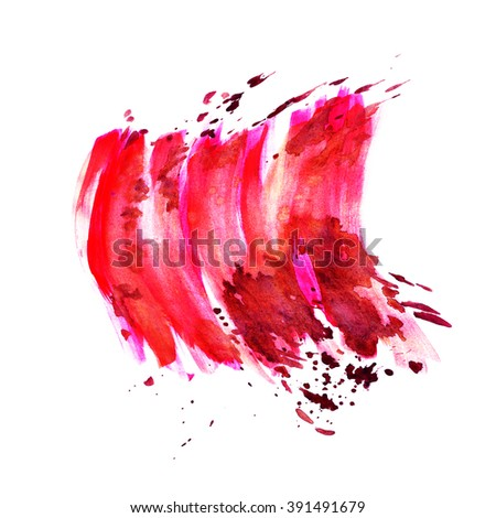 Hand painted watercolor background. Watercolor wash.red, purple, wine