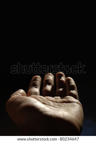 Hand palm - stock photo