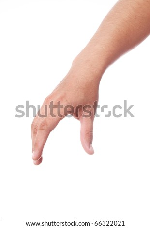 hand picking something with space in blank for insert text or design - stock photo