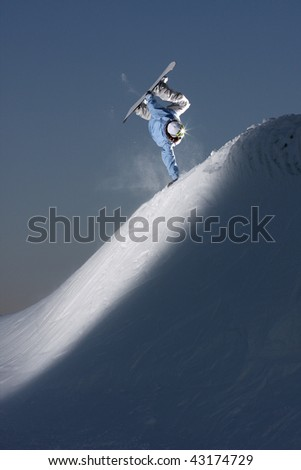 hand plant in the flash light - stock photo
