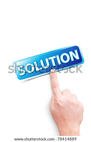hand point to solution button