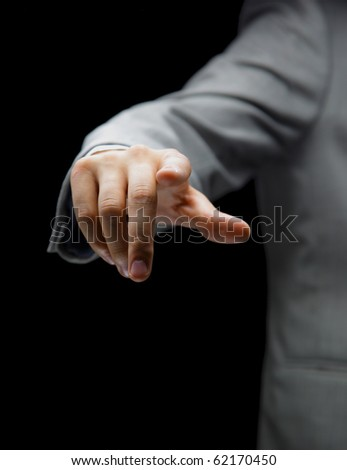 Hand pointing - stock photo