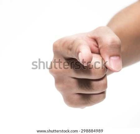 hand pointing at you - stock photo