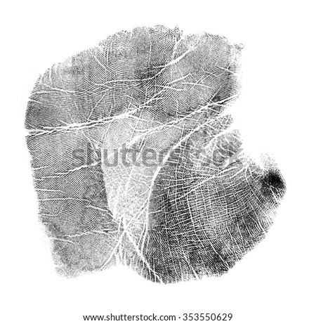 Hand print on white background - stock photo