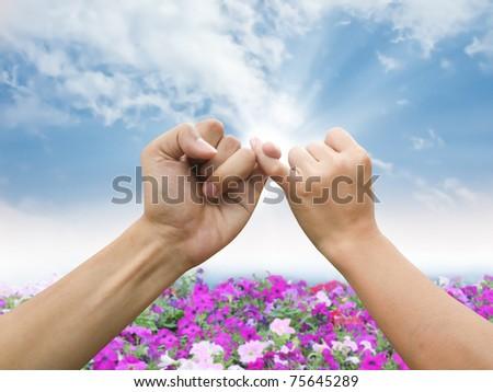 Hand promise - stock photo