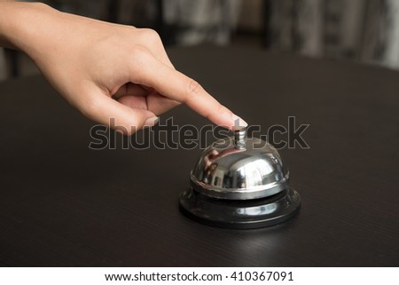 hand push service bell on desk