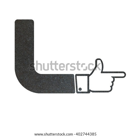 hand recycled paper craft on white background  - stock photo