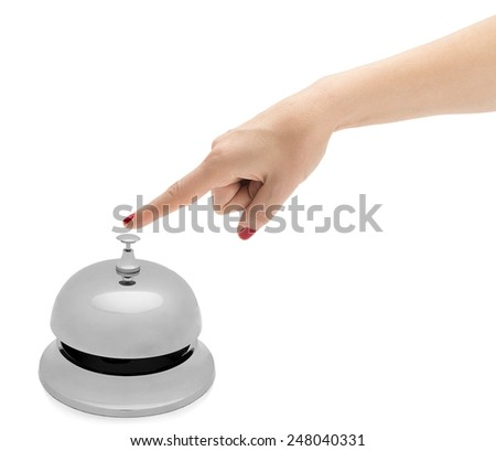 Hand Ringing Hotel Bell