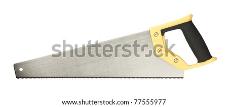 Hand saw for wood work. - stock photo