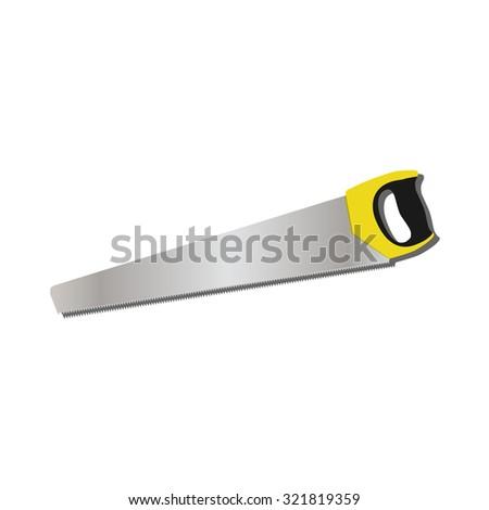Hand saw, hand saw raster, hand saw isolated - stock photo