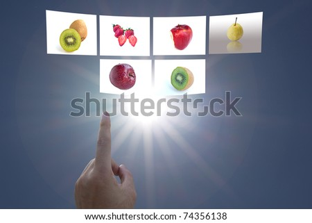 hand select fruit the concept for consumer - stock photo