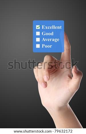 Hand Select Rating - stock photo