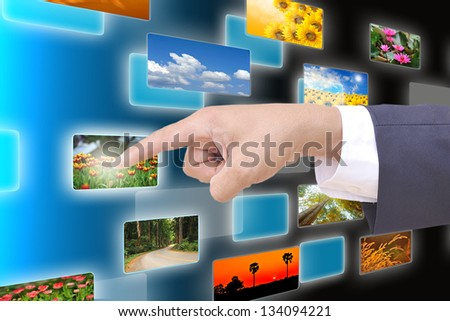 hand selecting images streaming from the deep