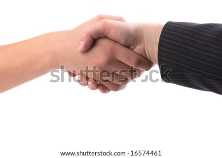 Hand shake, the consent, business meeting.