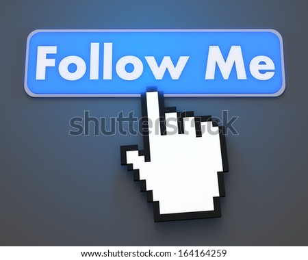 Hand Shaped mouse Cursor thumb up like man share good social media share 3d symbol icon button illustration follow me - stock photo