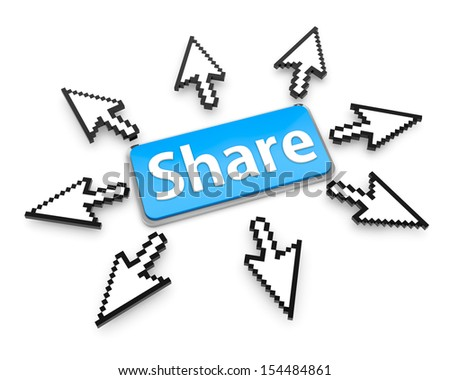 Hand Shaped mouse Cursor thumb up like share good social media share 3d symbol icon button - stock photo