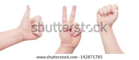 hand sign - stock photo