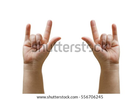 hand sign love isolated