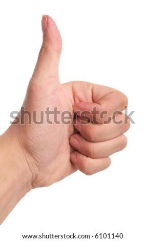 Hand sign OK. - stock photo