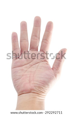 Hand Sign on white