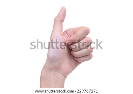 hand signals isolated on white background