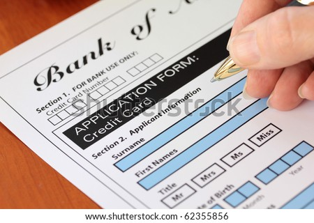 Hand Signing a Generic Bank Credit Card Application