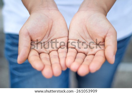 hand soft blur With blurred background
