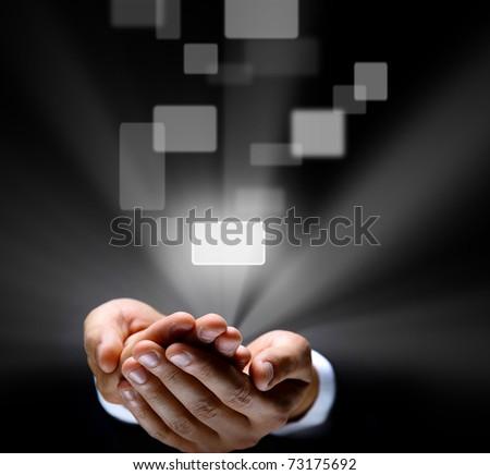 hand symbol - stock photo