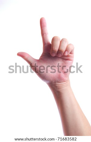hand symbol isolated