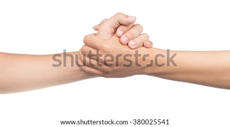 hand symbol isolated on white background