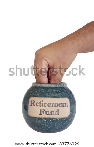hand taking savings - stock photo