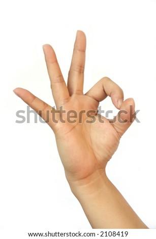 Hand Talk Series - Okay - stock photo