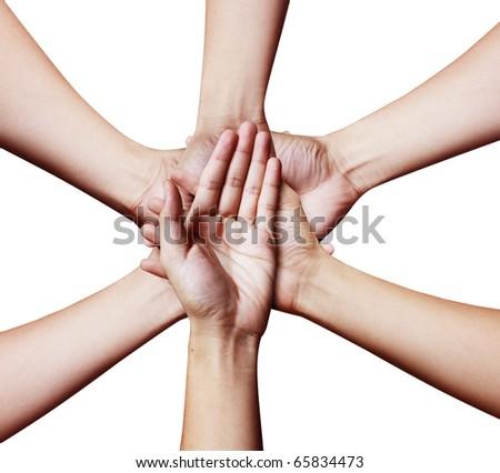 hand Team - stock photo