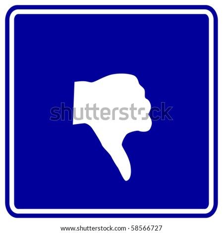 hand thumb down sign - stock photo