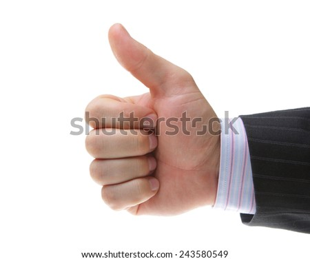 hand thumb up very well - stock photo