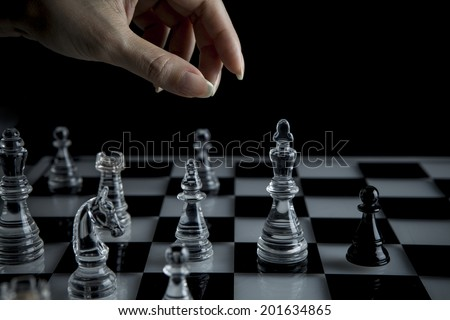 Hand to manipulate chess pieces