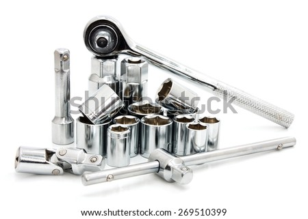hand tool on white background  - stock photo