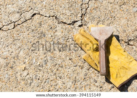 hand tools for construction and demolition - stock photo