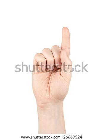 hand touching screen - stock photo