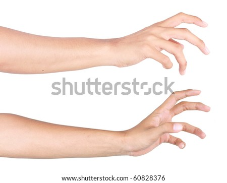 hand try to reach something - stock photo