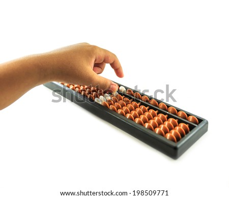 hand using abacus