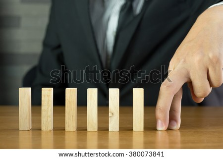 Hand walking obstacle, Barriers concept - stock photo