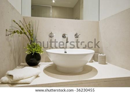 Hand wash basin - stock photo